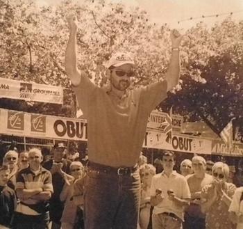 Jean Luc ROBERT le triple finaliste de l'édition Millau 1999 ( photo Obut )