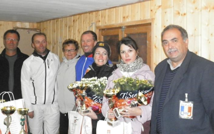 Les finalistes dames et hommes 2011 dans le froid