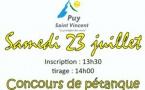 Puy St Vincent   -  Samedi 23 juillet  -   Doublettes pétanques