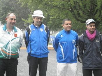 Les 4 joueurs de la poule réunis : Orne , Hautes Alpes , Corrèze et Midi Pyrénées