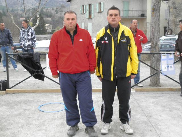 Fabien DEVEZEAUD (Le Sapet) et Serge ARNAUD (Embrun)