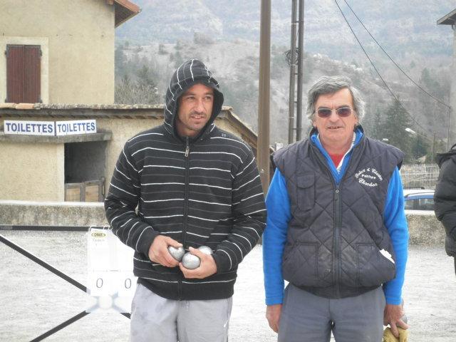 Yohan RAMBEAU (GAP) et Bernard MOURRE (Laragne)