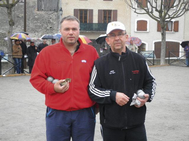 Fabien et Jeannot avant la finale de ce championnat 2012