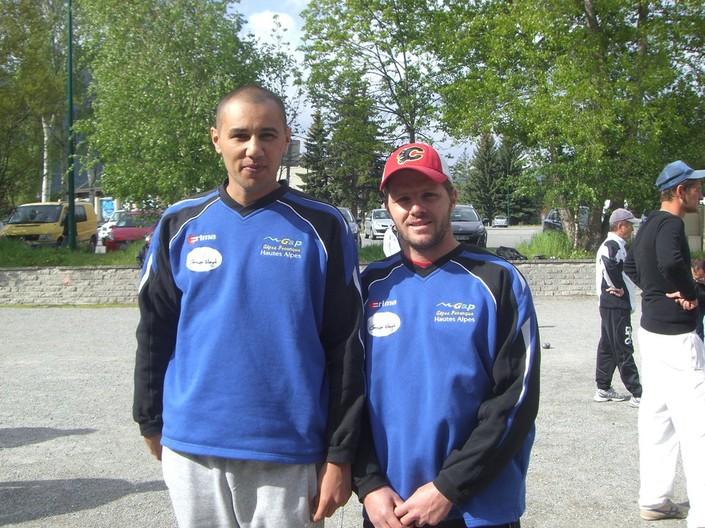Jérémy et Sébastien ancien vainqueurs de l'épreuve aussi mais peut être deja au siècle dernier !