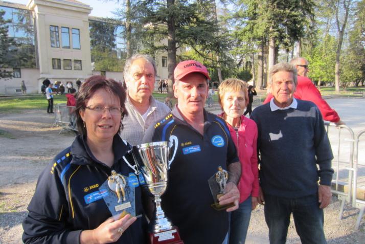 Championnat Départemental Doublette Mixte : DIEBOLD Marie Josée  et  ALEIXO Adélino Champions départemental 2014