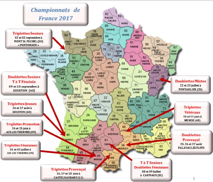 CHAMPIONNATS DE FRANCE 2017