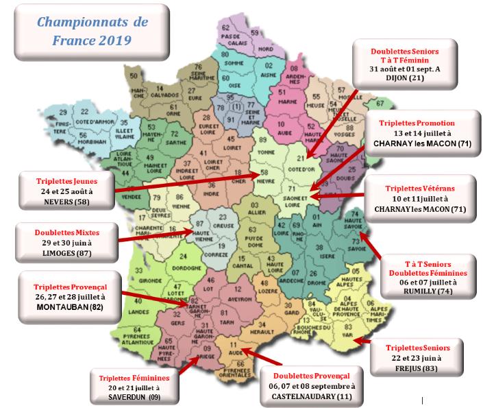 Calendrier Championnat De France Petanque 2019.Calendrier 2019