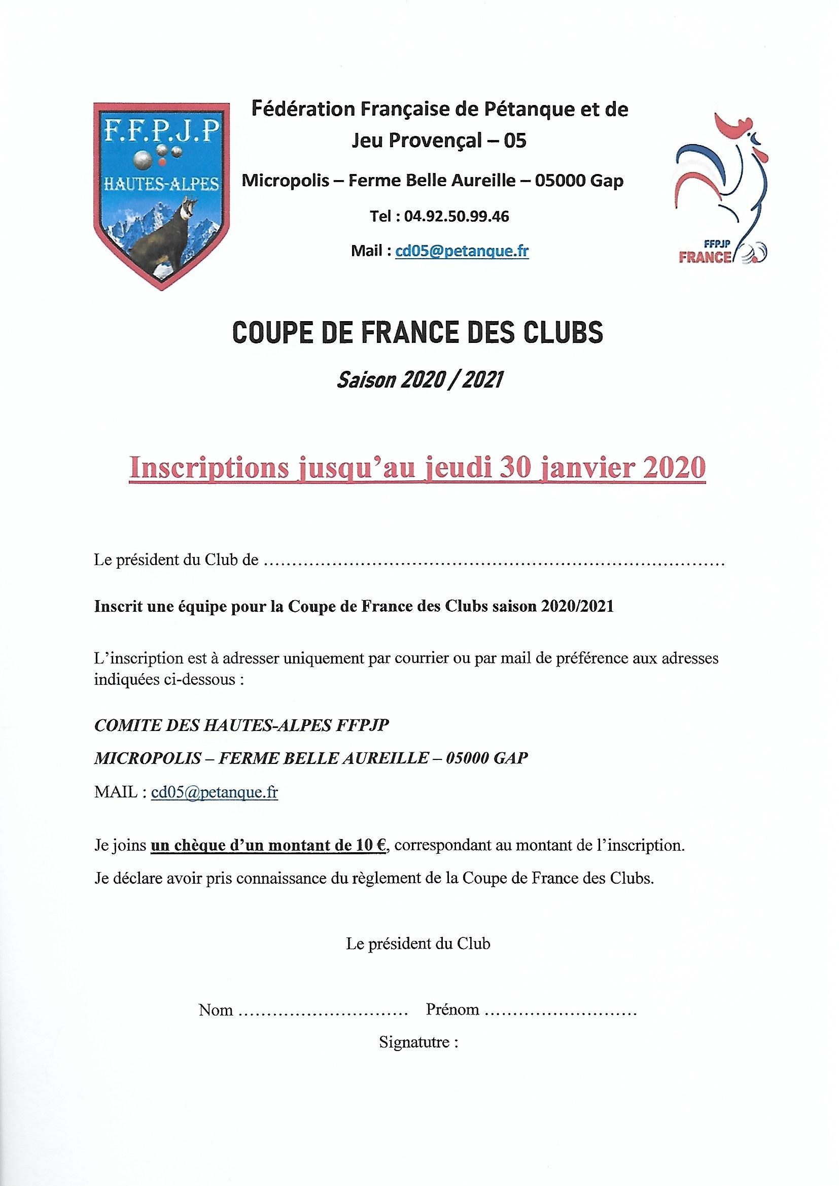 COUPE DE FRANCE 2020-2021