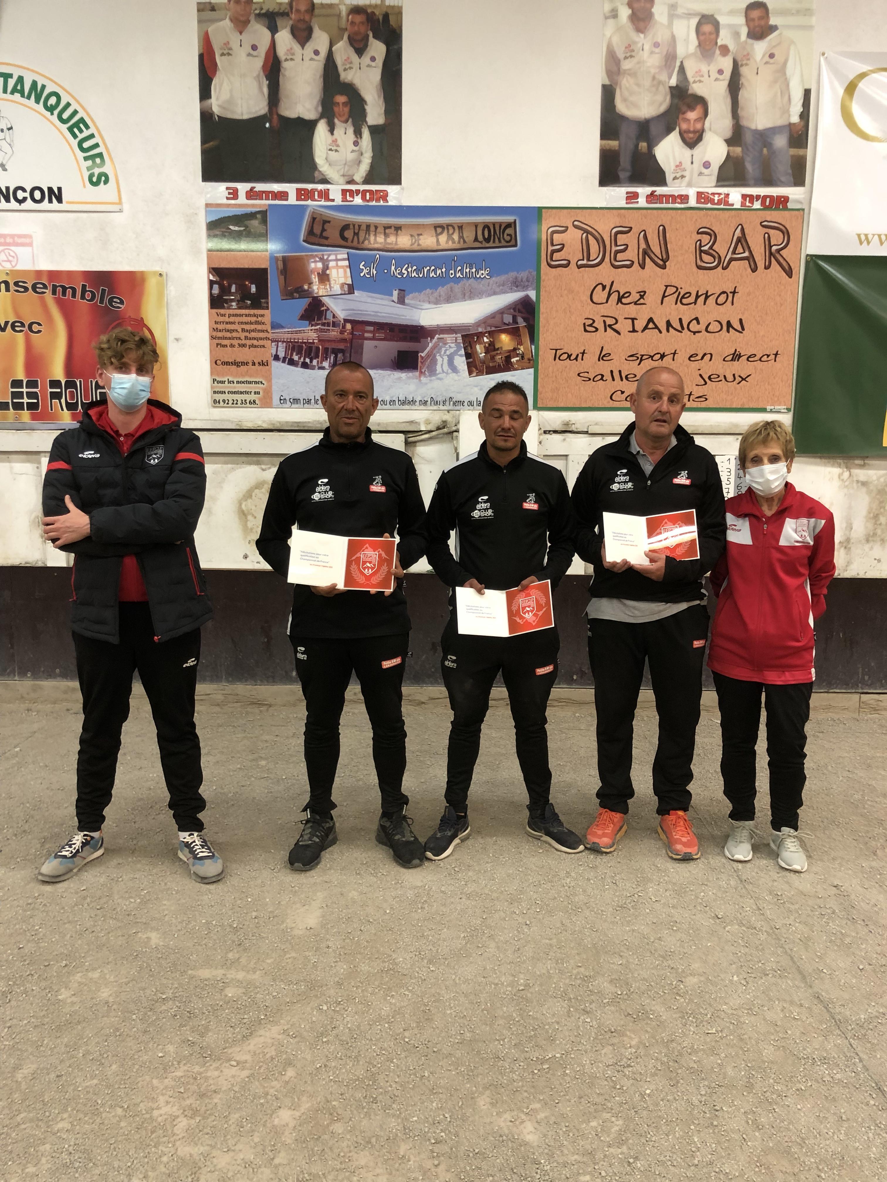 Qualifiés pour les championnats de France Triplette Jeu-Provençal