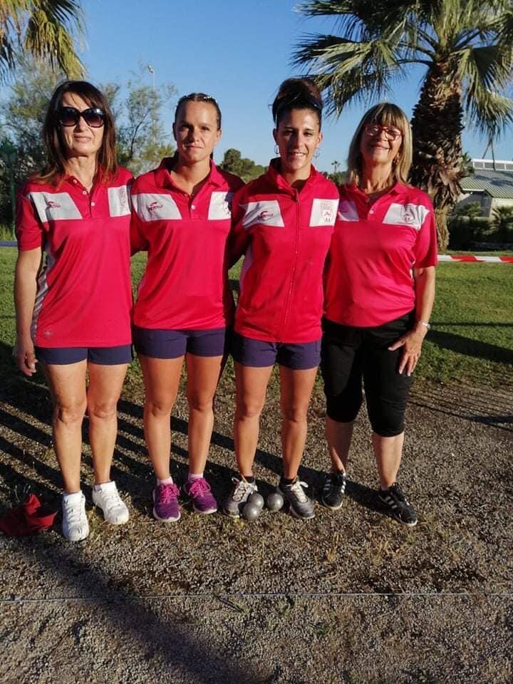 Championnat de France Triplette Féminins parties  1 2 et 3