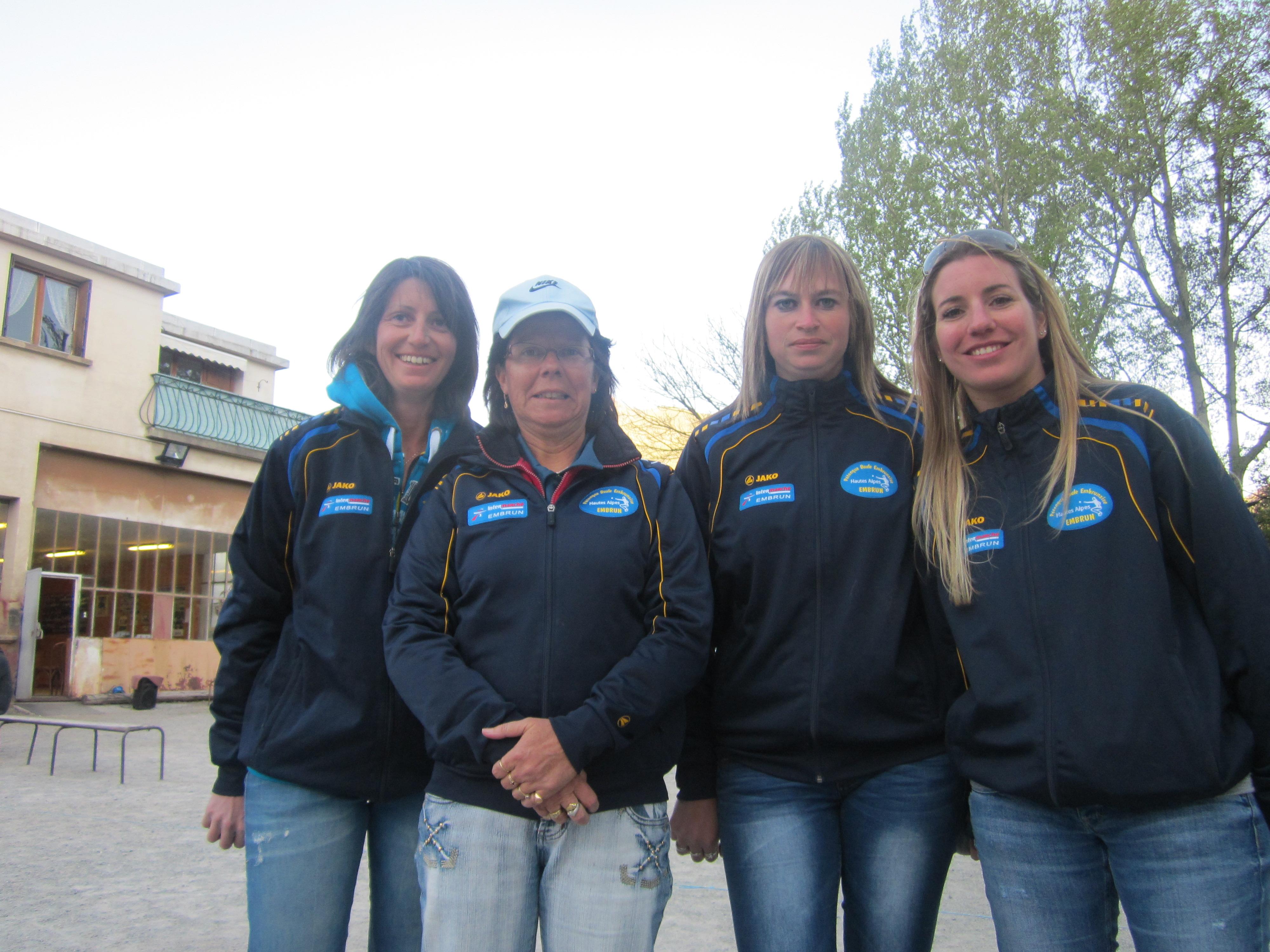 Coralie LEYRE et Stéphanie MATHIEU Championnes départemental doublette pétanque féminin 2014