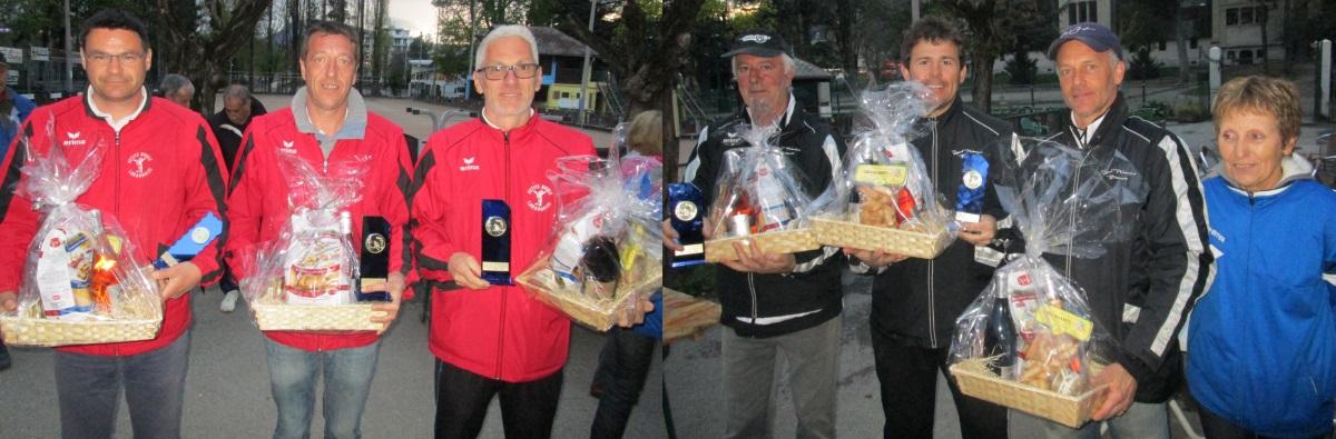 Qualificatifs de Ligue Triplettes Jeu Provençal les16 et 17 avril à GAP
