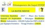 Critérium Batisdon - Samedi 16 et dimanche 17 septembre