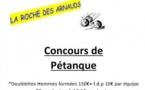 Concours de pétanque à la Roche des Arnauds jeudi 23 août 2018