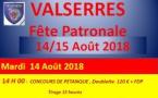 Valserres - Pétanque les 14 et 15 août 2018