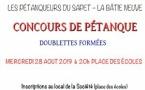 La Batie-Neuve  - Pétanque doublettes formées - mercredi 28 août 2019