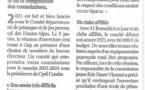 Article du Dauphiné Libéré 13/01/2021