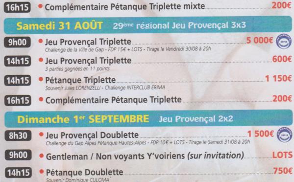 GAP - 46° Critérium Bouliste