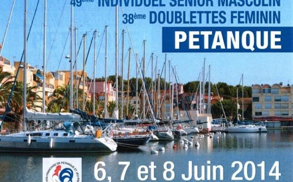 Fabien DEVEZEAUD, Coralie LEYRE et Stéphanie MATHIEU  au championnat de France 2014